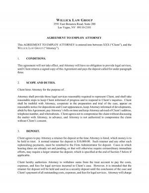 Attorney Client Agreement Las Vegas Pdf picture