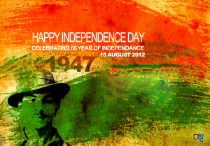 Happy Independence day Celebrating 66 year of Independence 15 Aug 2012