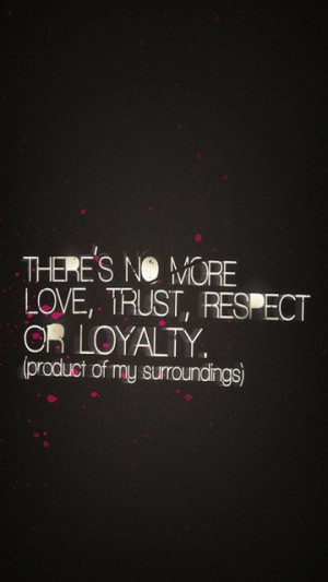Loyalty Trust Respect