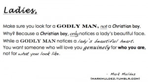 ... feel about finding a godly man summed up in a paragraph. Yes