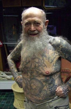 ... what your tatt will look like in 40 years: 14 old people with tattoos