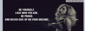 Lady Gaga Quote Profile Facebook Covers