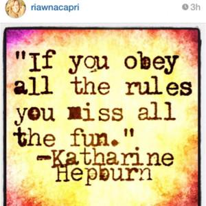 ... RiawnaCapri Katharine Hepburn was a girl who knew how to have fun