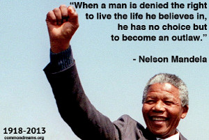 From - Common Dreams staff – Nelson Mandela, who died yesterday at ...