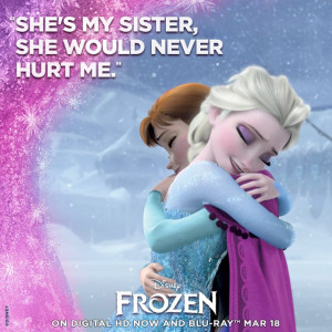 Nothing is stronger than the bond between sisters. #Frozen