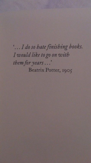 Beatrix Potter (sometimes with a really good one .... I will read only ...