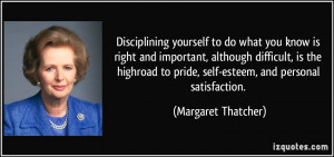 and important, although difficult, is the highroad to pride, self ...