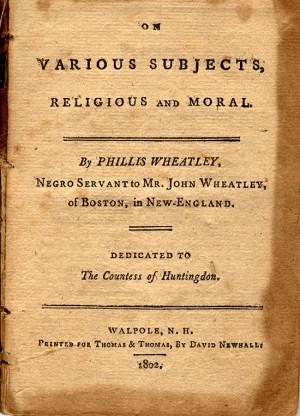 Phillis Wheatley Poems Albany