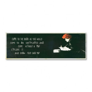 Vintage Bookmark Card with Thoughtful Quotes Business Card Template ...