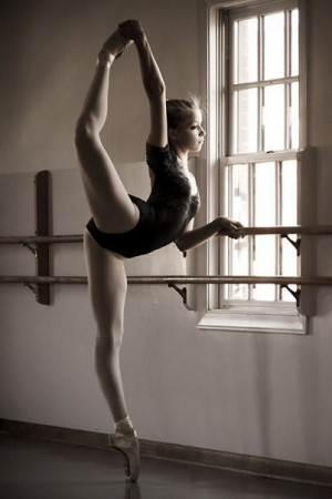 dance dancer ballet dancing ballerina pointe girl flexible back leg ...