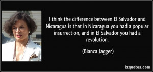 think the difference between El Salvador and Nicaragua is that in ...