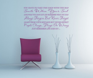 Life Goes On... Inspirational Quote Vinyl Wall Art Decal Sticker