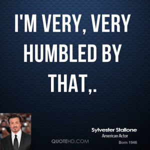 Sylvester Stallone Quote Very...