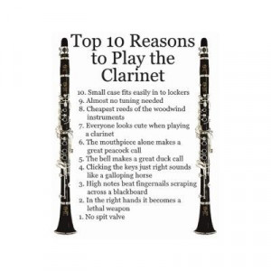 play the clarinet!(:Music, Hautboi, Marching Band, Tops 10, 10 Reasons ...