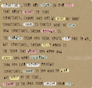 change, cute, love, quote, words