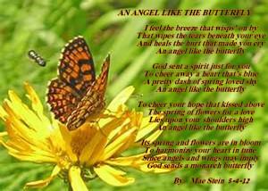 AN ANGEL LIKE THE BUTTERFLY