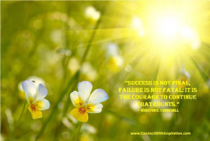 Courage, Dealing with Difficult Time, Churchill Quote, It Is The ...