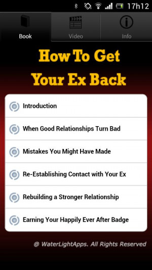 How To Get Your Ex Back - screenshot