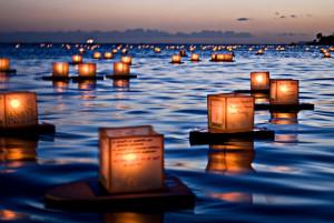 Lantern Floating Ceremony, Hawaii