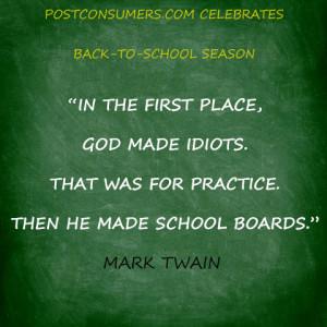 Back to School Quote: Mark Twain on School Board Wisdom