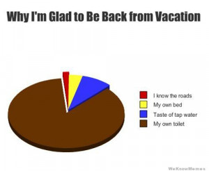 Why I'm glad to be back from vacation – graph