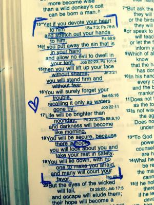 Job 11:13-19 my favorite Bible quote