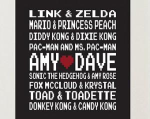 Gamer Couple Quotes Nintendo art - gamer love.