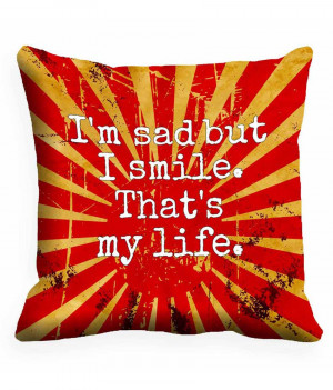 Mesleep Red Satin Quotes 3D Cushion Cover