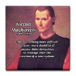 Political Theory: Machiavelli Tile Coaster