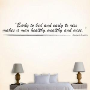 early to bed early to bed and early to rise makes a man healthy ...