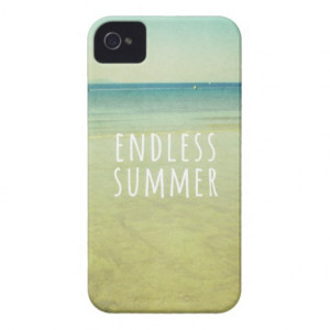 Endless Summer Quotes Vintage Beach Photo Cool iPhone 4 Case-Mate ...