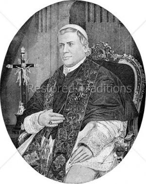 Pope Pius 9 Portrait