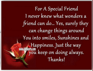 Happy Birthday to My Special Friend Quotes
