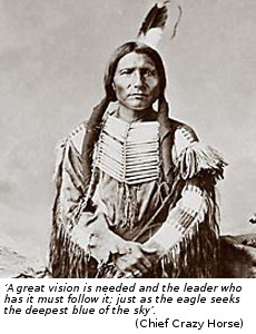 Chief Crazy Horse with quote