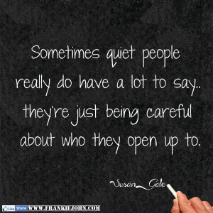 Quiet People Have The...