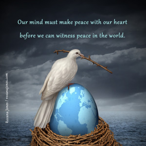 Inspirational Image: Inner Peace is Reflected as World Peace