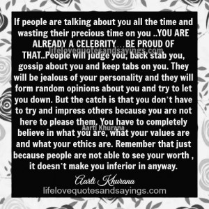 You Are A Celebrity..Be Proud Of It..