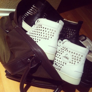 cute, fashion, gangster, girly, kouboutin, love, shoes, spikes, studs