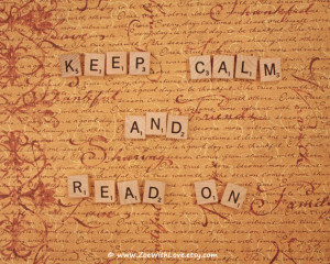 Scrabble Quotes 'Keep Calm and Read On' Scrabble Wall Art, Fine Art ...