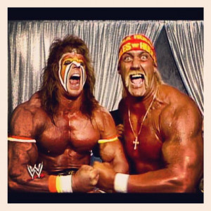 of my childhood inspirations theultimatewarrior hulkhogan wwe wwf ...
