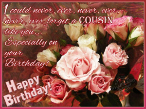 HAPPY BIRTHDAY IMAGES FOR FEMALE COUSIN QUOTES