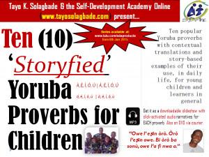 ' Yoruba Proverbs for Children. Subtitle - Ten popular Yoruba ...