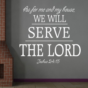 Joshua 24:15 As For Me... Typo Religious Wall Decal Quotes