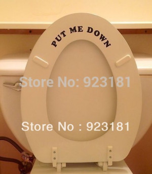 Hot Small Funny Put Me Down Bathroom Quote Wall Art Stickers Decal DIY ...
