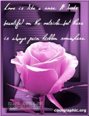 Love Is Like A Rose - Beautiful Rose Quote Graphic