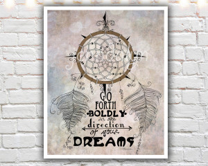 ... 20 paper print, dream catcher, thoreau quote, inspirational poster