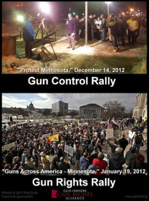 Gun control rally vs. gun rights rally