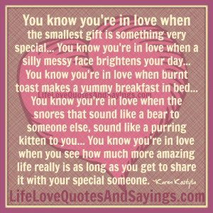 You Know You're In Love..
