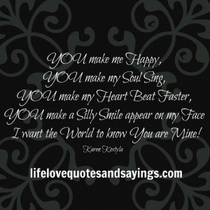 You Make Me Happy Quotes Cool Love Quotes You Make Me Happy Always ...