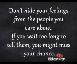 quotes on hiding your feelings